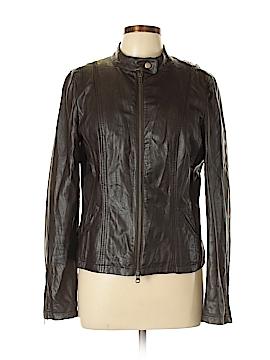 Ann Taylor LOFT Outlet Faux Leather Jacket Size 10