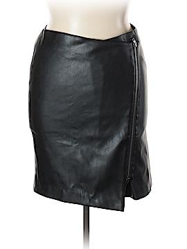 G.I.L.I. Faux Leather Skirt Size 14 (Petite)