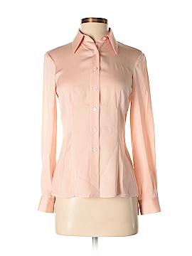 Emporio Armani Long Sleeve Silk Top Size 4