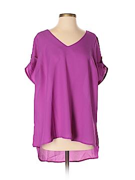 FASHION TO FIGURE Short Sleeve Blouse Size 0X Plus (0) (Plus)