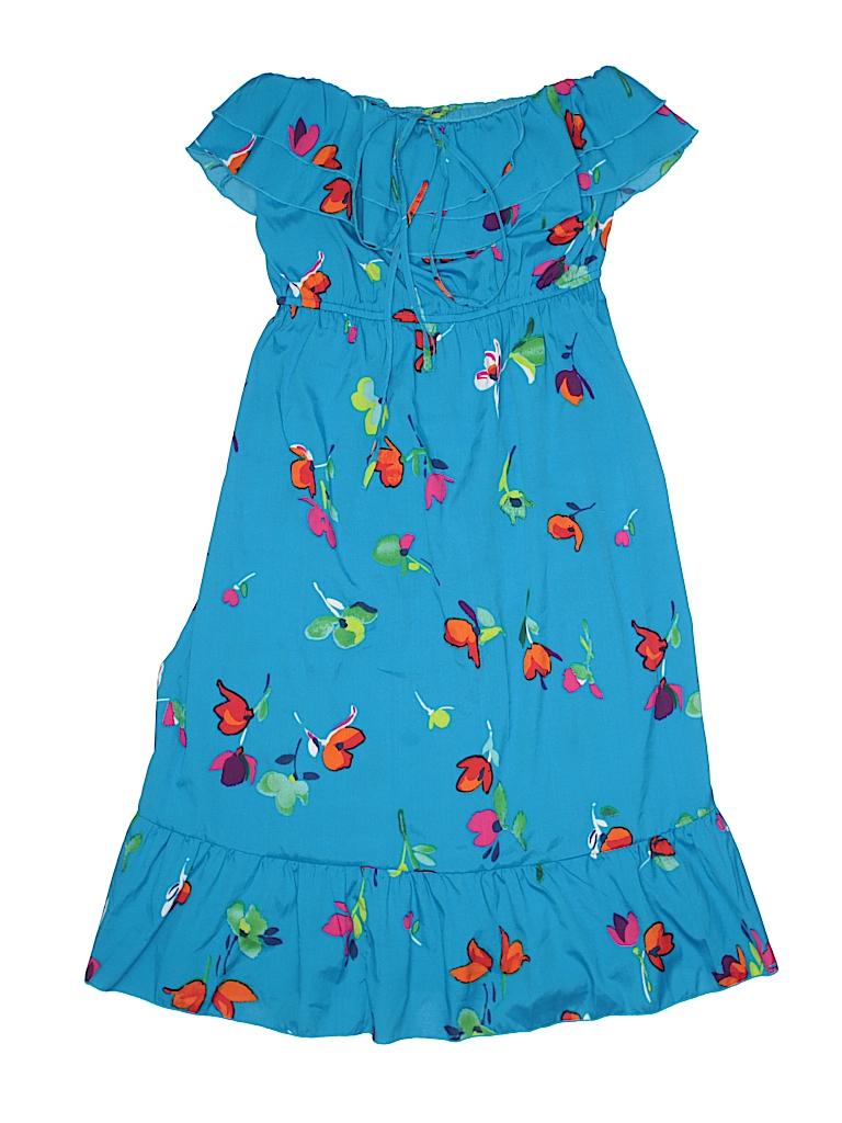 Old Navy 100% Polyester Print Blue Dress Size S (Kids) - 60% off ...