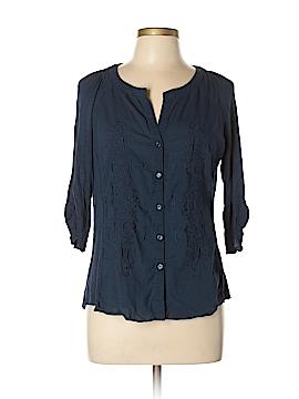 RXB 3/4 Sleeve Button-Down Shirt Size L