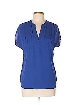 INC International Concepts Short Sleeve Blouse Size L (Petite)