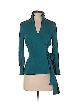 Diane von Furstenberg Long Sleeve Silk Top Size 4