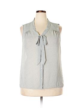 Ann Taylor LOFT Outlet Short Sleeve Blouse Size XL