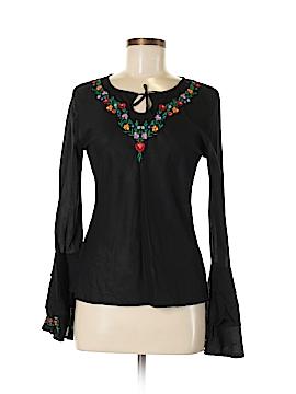 Uttam Boutique Long Sleeve Blouse Size M
