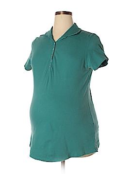 Duo Maternity Short Sleeve Polo Size L (Maternity)