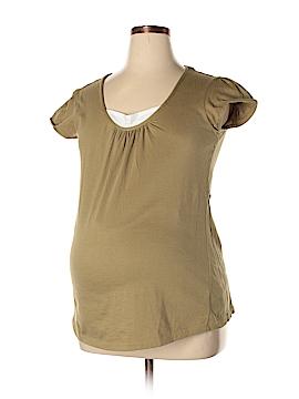 Two Hearts Maternity Short Sleeve T-Shirt Size L (Maternity)