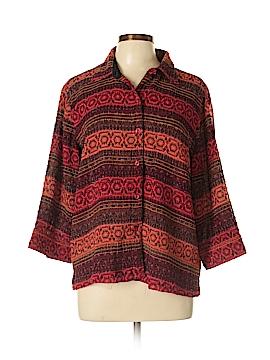 Coldwater Creek 3/4 Sleeve Button-Down Shirt Size XL (Petite)
