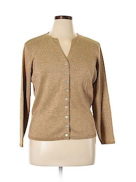 Joseph A. Silk Cardigan Size 1X (Plus)