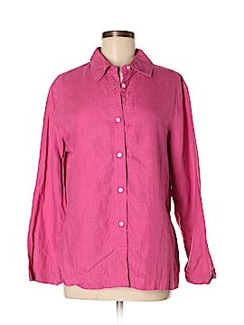 Kate Hill Long Sleeve Button-Down Shirt Size M