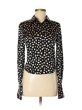 Kenneth Cole New York Long Sleeve Silk Top Size 4