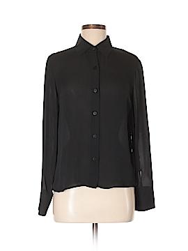 Saks Fifth Avenue Long Sleeve Silk Top Size M