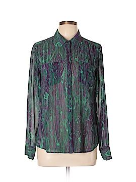 Guess Long Sleeve Button-Down Shirt Size L