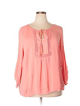 Zac & Rachel 3/4 Sleeve Blouse Size 3X (Plus)