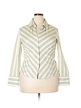 Worthington Long Sleeve Button-Down Shirt Size 16