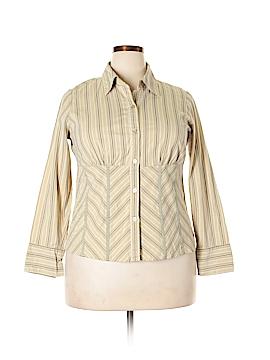 Venezia Long Sleeve Button-Down Shirt Size 14 Plus (1) (Plus)
