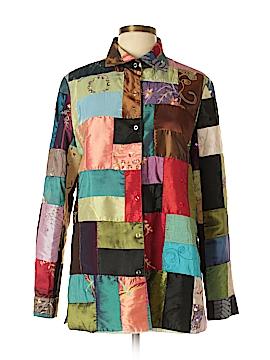 Grace Chuang Long Sleeve Button-Down Shirt Size L