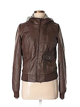 Obey Faux Leather Jacket Size M
