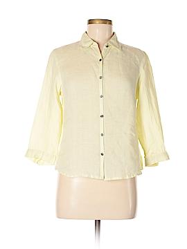 Alexandra Bartlett 3/4 Sleeve Button-Down Shirt Size M
