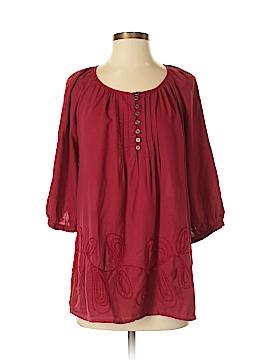 Brina & Em 3/4 Sleeve Button-Down Shirt Size S