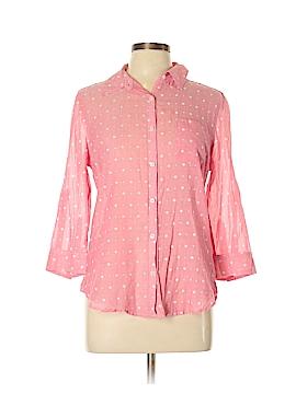 SO 3/4 Sleeve Button-Down Shirt Size XL