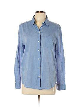 Ann Taylor Factory Long Sleeve Button-Down Shirt Size L