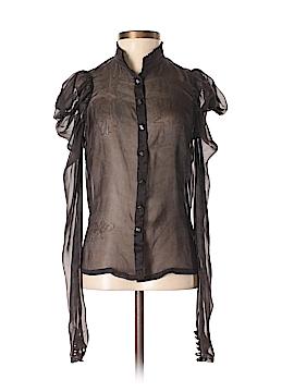 All Saints Long Sleeve Silk Top Size XS