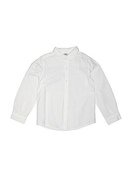 Petit Bateau Long Sleeve Button-Down Shirt Size 114 cm