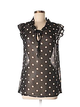 Bobeau Short Sleeve Blouse Size M