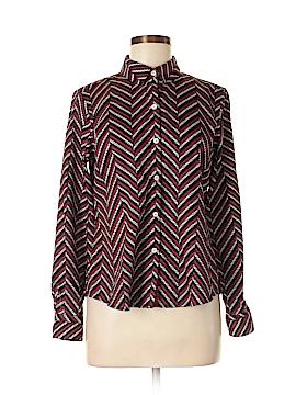 Foxcroft Long Sleeve Button-Down Shirt Size 8 (Petite)