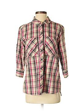 Quiksilver 3/4 Sleeve Button-Down Shirt Size S