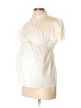 Mimi Maternity Short Sleeve Button-Down Shirt Size M (Maternity)