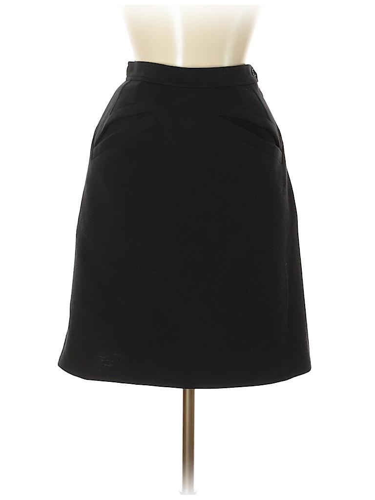 Yves saint laurent rive gauche 100 wool solid black wool for Bureau yves saint laurent