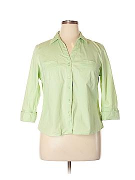 Fashion Bug 3/4 Sleeve Button-Down Shirt Size XL