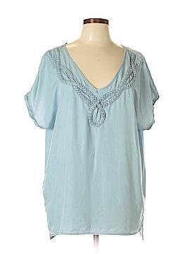 Nine West Short Sleeve Blouse Size L