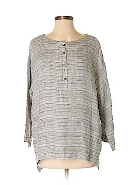 Purejill 3/4 Sleeve Button-Down Shirt Size S