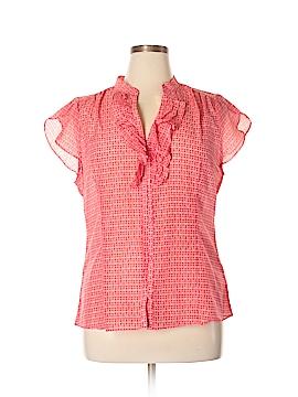 Banana Republic Factory Store Short Sleeve Blouse Size XL