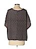 KLD Signature Women Short Sleeve Blouse Size Sm - Med