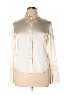Jax Long Sleeve Silk Top Size 14