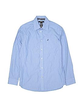 Nautica Long Sleeve Button-Down Shirt Size 16