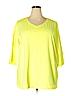 Catherines Women 3/4 Sleeve T-Shirt Size 3X (Plus)