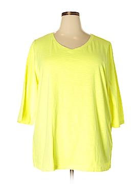 Catherines 3/4 Sleeve T-Shirt Size 3X WP (Plus)