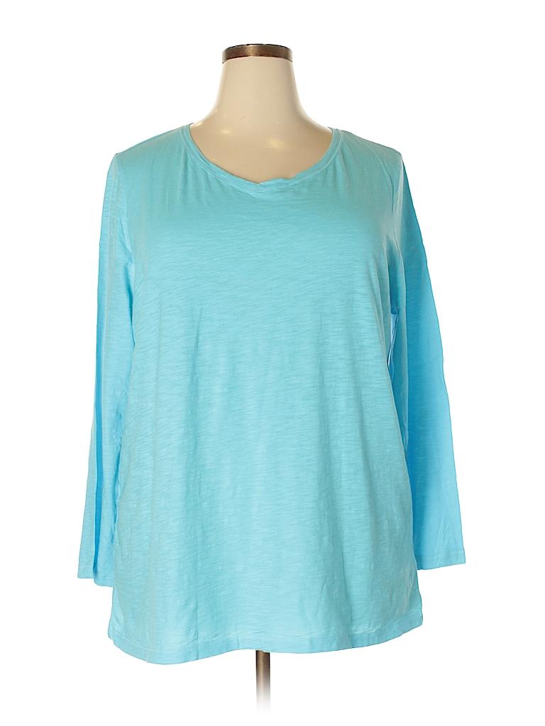 Catherines Women Long Sleeve T-Shirt Size 3X (Plus)