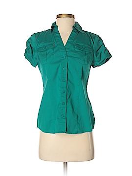 Alfani Short Sleeve Button-Down Shirt Size 2