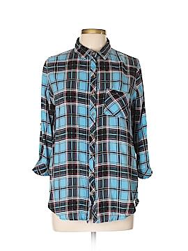 Bongo Long Sleeve Button-Down Shirt Size L
