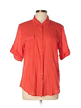 Banana Republic Factory Store Short Sleeve Button-Down Shirt Size XL