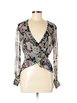 Spiegel Long Sleeve Silk Top Size 6