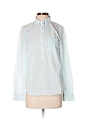 L.L.Bean Women Long Sleeve Button-Down Shirt Size 2