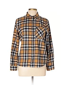 Girl Krazy Long Sleeve Button-Down Shirt Size L